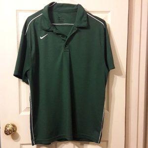 Men's Nike dry fit polo shirt.